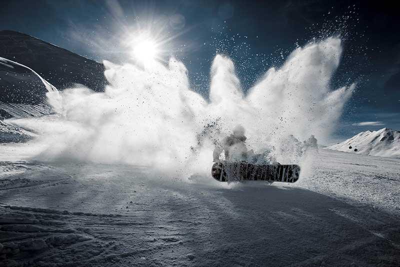 Snowboard deporte de riesgo