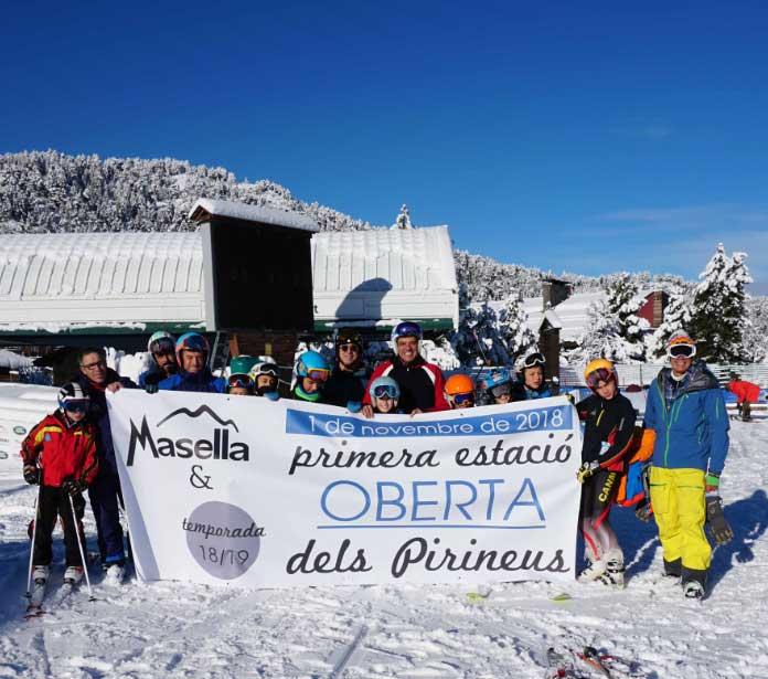 Temporada de esquí 2018-19 se adelanta con las últimas nevadas