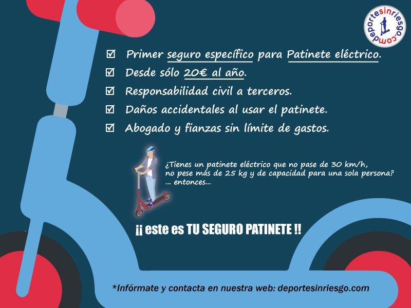 Primer seguro para patinete eléctrico específico