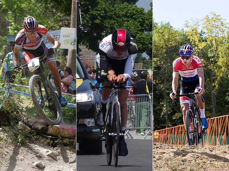 Van der Poel practicando MTB, ciclismo en ruta y ciclocross